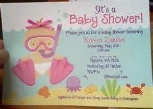 scuba baby shower invite