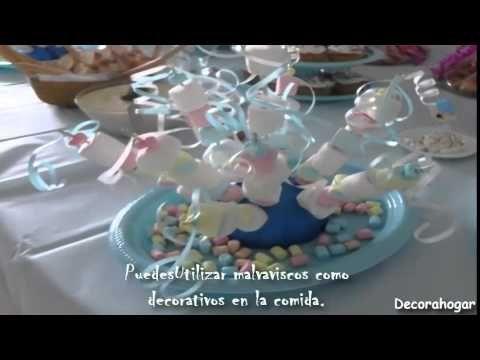 Centro de mesa con bombones  baby shower centerpieces - YouTube