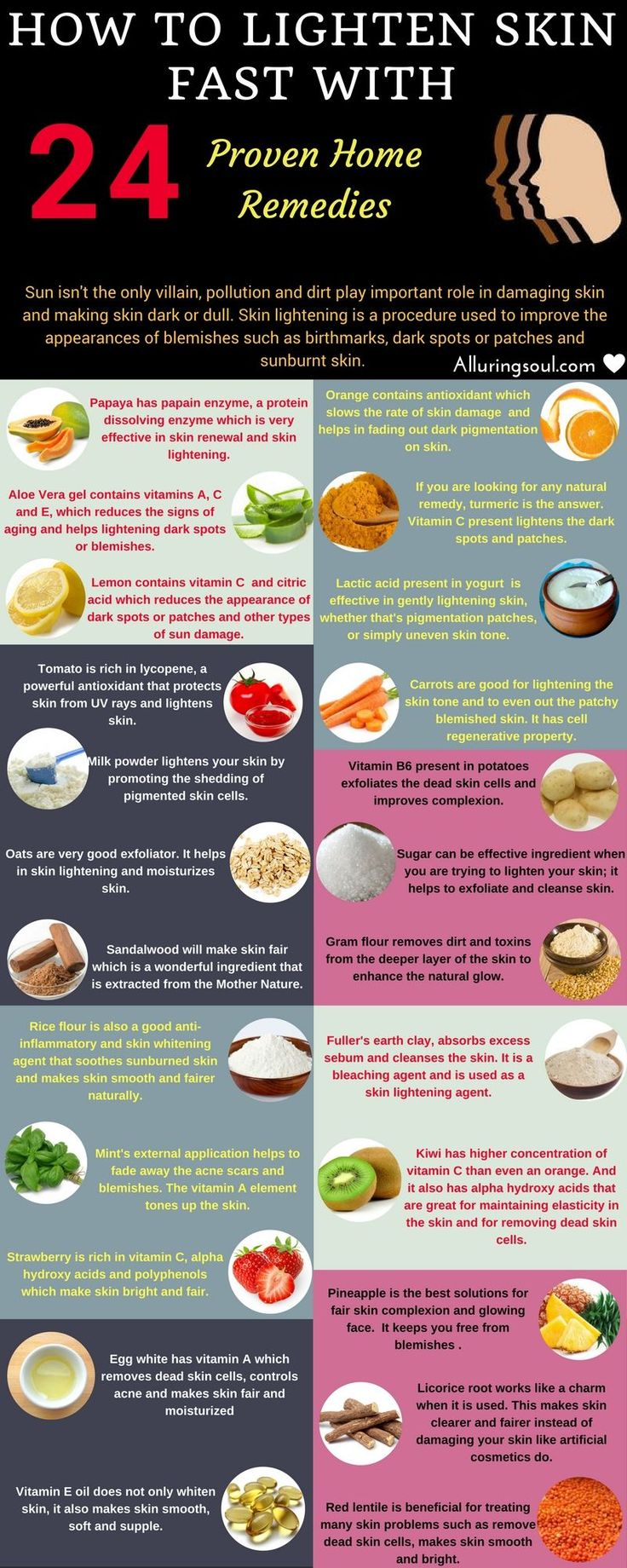 Best 25 lighten skin naturally ideas on pinterest lighten skin how to lighten skin fast 24 proven home remedies ccuart Image collections