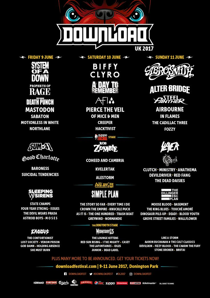 Download Festival needs no introduction; this year from 9-11th June at Donington Park you can see the likes of Aerosmith, Biffy Clyro, System of Down, Five Finger Death Punch, Steel Panther and many more. Get your Download Festival tickets here: http://festivallers.co.uk/download