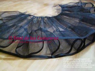 patrón de costura para vestido cómo poner falso con volados a vestido acampanado