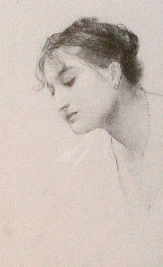 Study of a Head, 1885, Gustav Klimt.