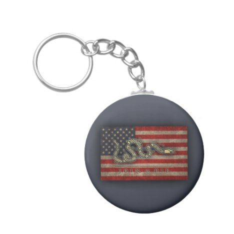 Join Or Die -Flag Keychain