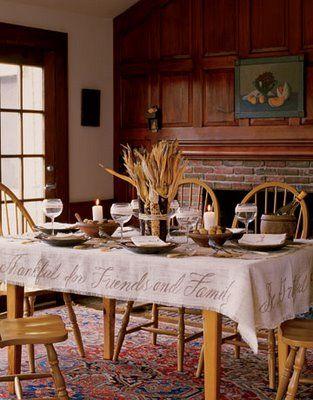 Thanksgiving tablecloth idea