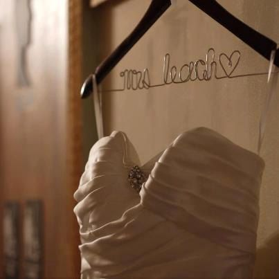 SALE Personalized Wedding Hanger/ Brides by twobroadsdesign, $13.99