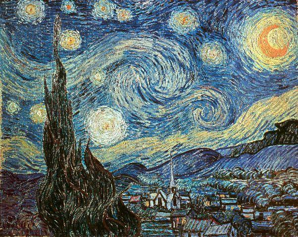 Vincent Van Gogh - Die Sternennacht - jetzt bestellen auf kunst-fuer-alle.de