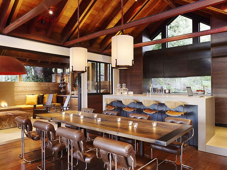 Kitchen, Hillside House, California by SB Architects: Interior Design, Dining Rooms, Ideas, California Homes, Inspiration, Hillside House, Kitchen, Space, Dining Tables