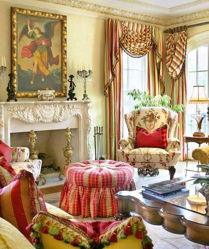 French Country Cottage Living Room: An Elegant Victorian Living Room