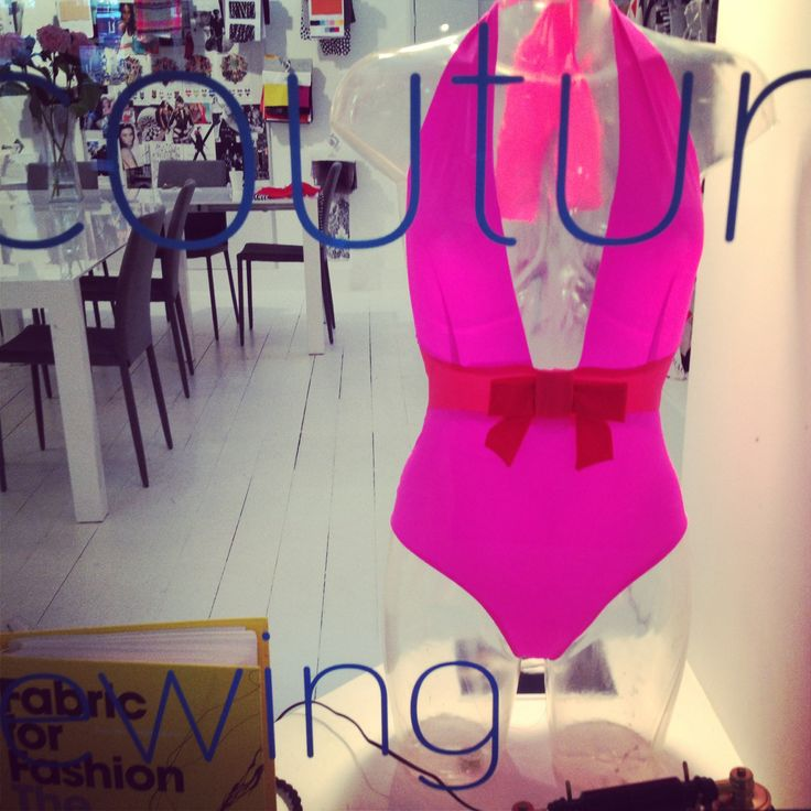 The new #SUMARIE #hotpink #designer #swimsuit available via www.SUMARIE.com