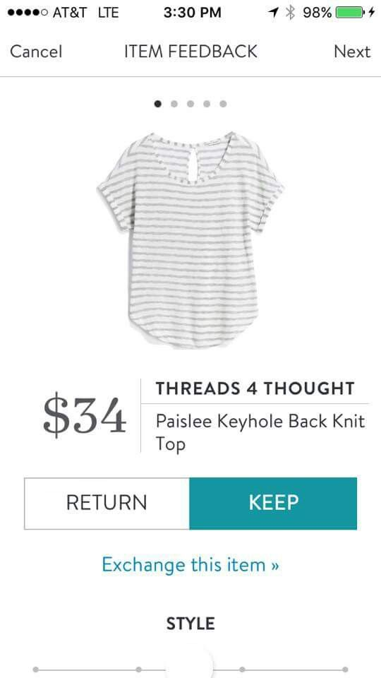 Stitch Fix Threads 4 Thought Paislee Keyhole Back Knit Top