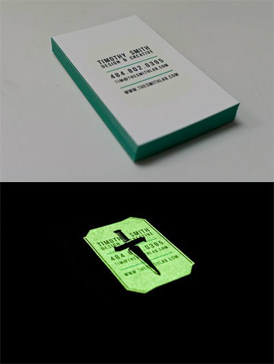 16 best glow in the dark business cards images on pinterest cddvd duplicationreplication and screen printing studio reheart Gallery