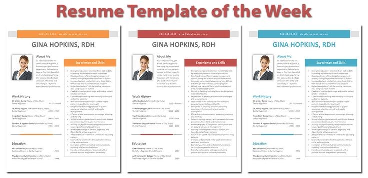 This weeku0027s highlighted dental hygiene resume template Gina - dental hygiene resumes