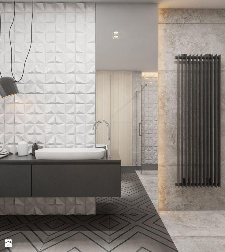 Dom jednorodzinny w Tarnowskich Górach 2017 - Średnia łazienka, styl nowoczesny - zdjęcie od A2 STUDIO pracownia architektury
