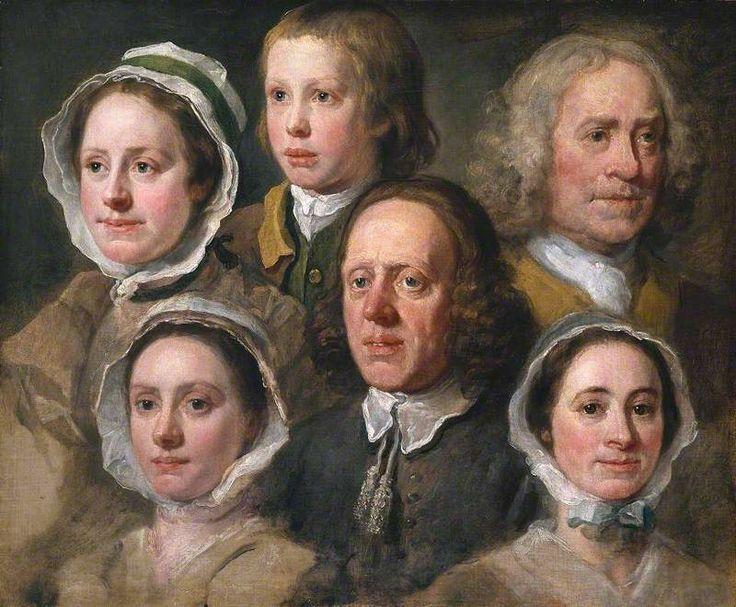 Heads of Six of Hogarth's Servants, c.1750-5, by William Hogarth. Tate