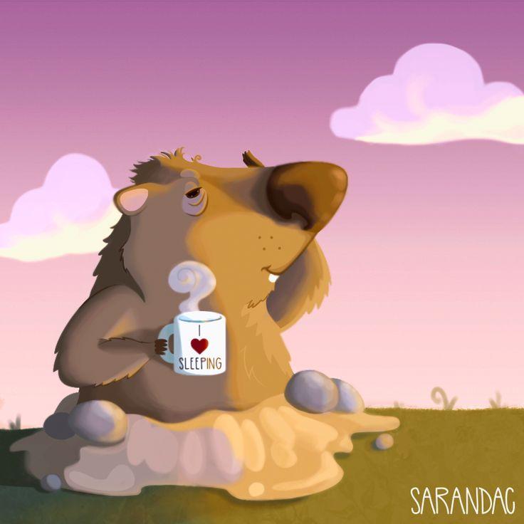 La marmota Phil sale de su madriguera y predice seis semanas más de invierno...❅☃