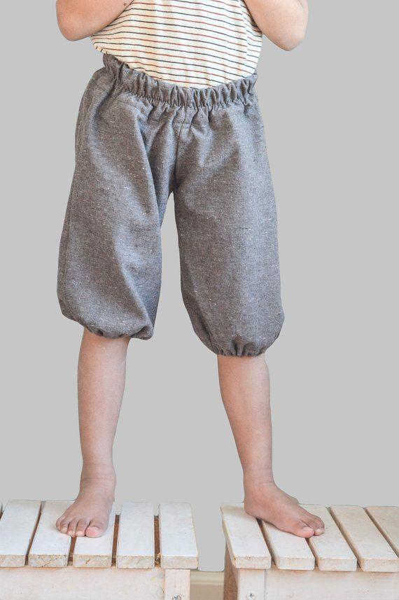 e1e841bc07f organic cotton + hemp pantaloons / unisex 2 lengths / knee length shorts /  cotton pants / summer kids clothes / loose pants / Parker