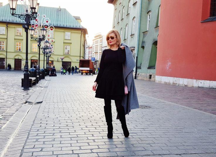 look, fashion, style, black dress, little black dress, mała czarna, czarna sukienka, Kraków