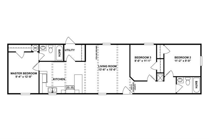 Floorplan si 60 46spd16603ah oakwood homes of for Oakwood floor plans