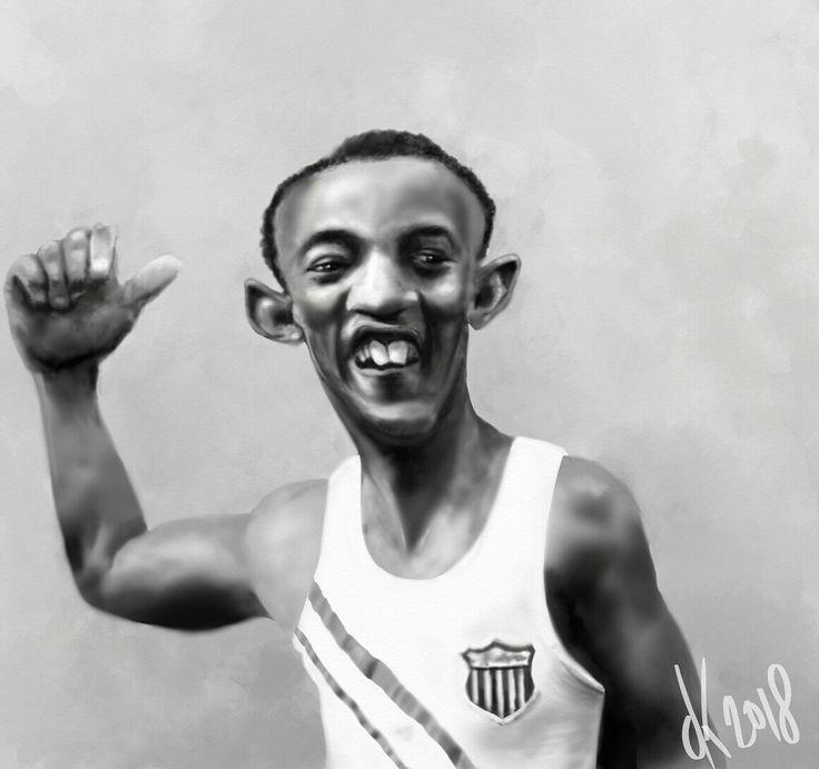 Jesse Owens (1936)caricature