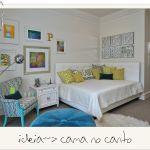 Confirauma boa solução pra quem tem um quarto pequeno mas precisa de uma cama de casal!