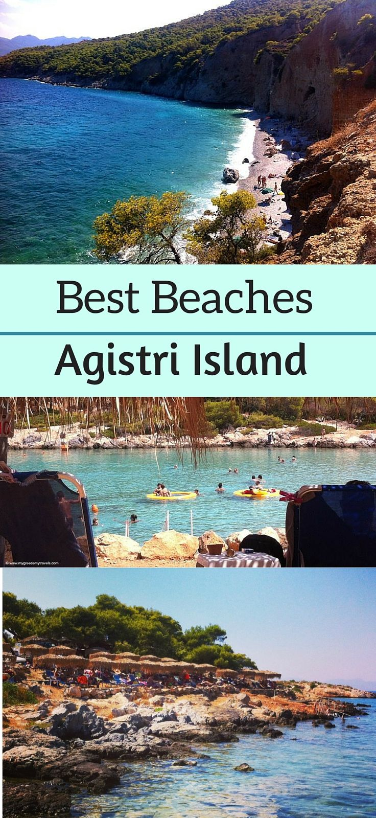 Check out the best beaches of Agisitri, a Saronic island just an hour away via ferry from Athens.