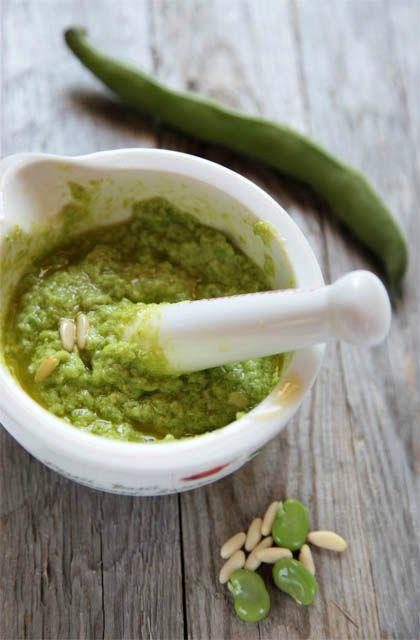Pesto di fave. Una ricetta autunnale da provare! #Andalinilatuapasta #ricetta www.andalini.com