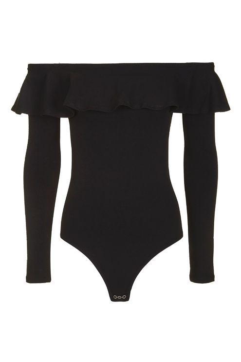 TALL Long Sleeve Ruffle Bodysuit