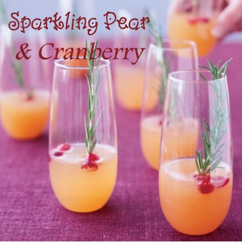 Sparkling Pear & Cranberry Cocktail » Thanksgiving Cocktail ...