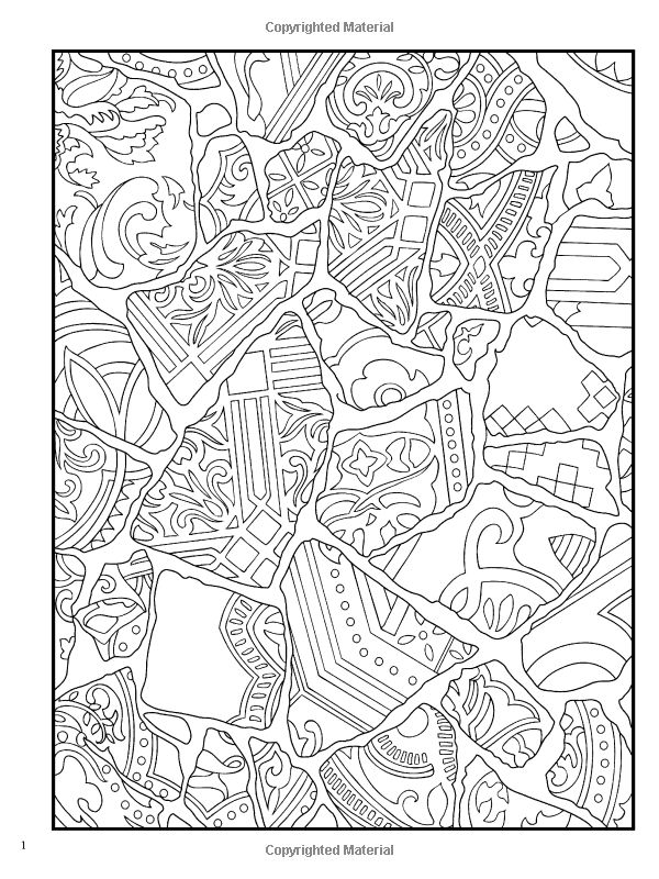 Haven Mosaic Masterpieces Coloring Book (Dover Design Coloring ...