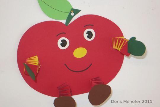 Einfach und wirkungsvoll: Apfelmännchen basteln aus Papier.