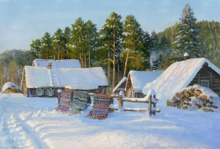Russian soul: Pictures of Russian peasant life by Vladimir Zhdanov - 05
