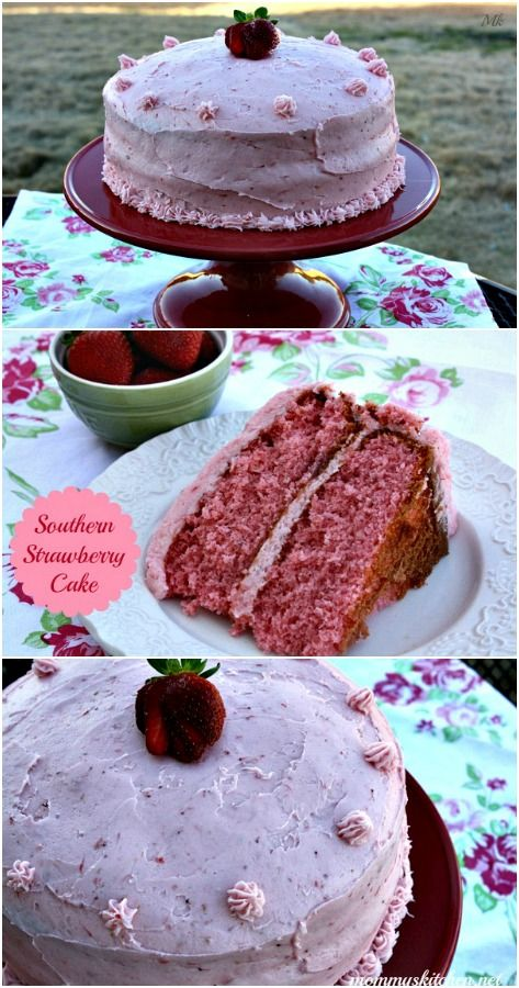 Southern Style Strawberry Layer Cake + A Promise to my 13 year old Daughter. #strawberries #southerncake