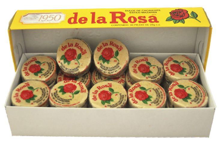 Mazapan De La Rosa Peanut'S Confection 30 Pcs Box 1 Lb 13.6 Oz Mexican Candy