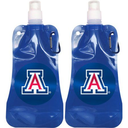 Ncaa 16 oz Arizona Wildcats Foldable Water Bottle Set, 2pk, Multicolor