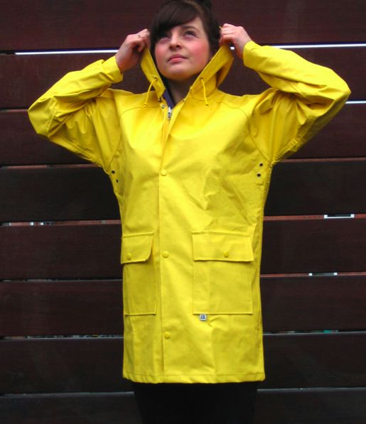 gelbe Regenjacke