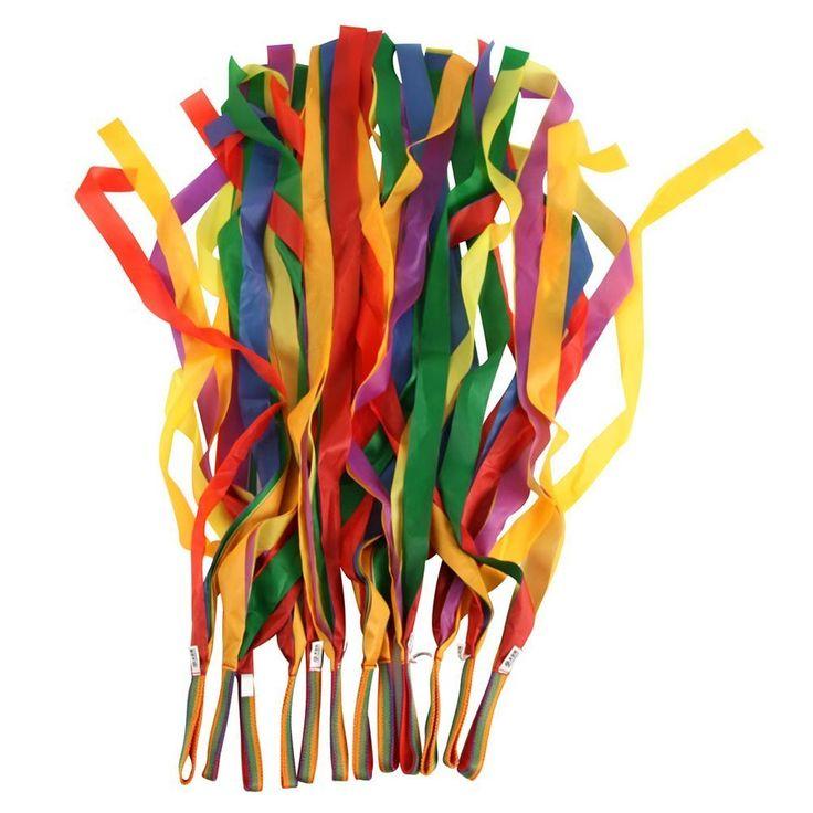 Amazon.com: BESTOYARD Rhythm Ribbon Dance Rainbow Ribbon Dance Ribbon 12PCS: Toys & Games