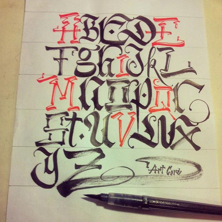 Graffiti Tattoo Lettering Generator: Freestyle Alphabet // Calligraphy By Art Core