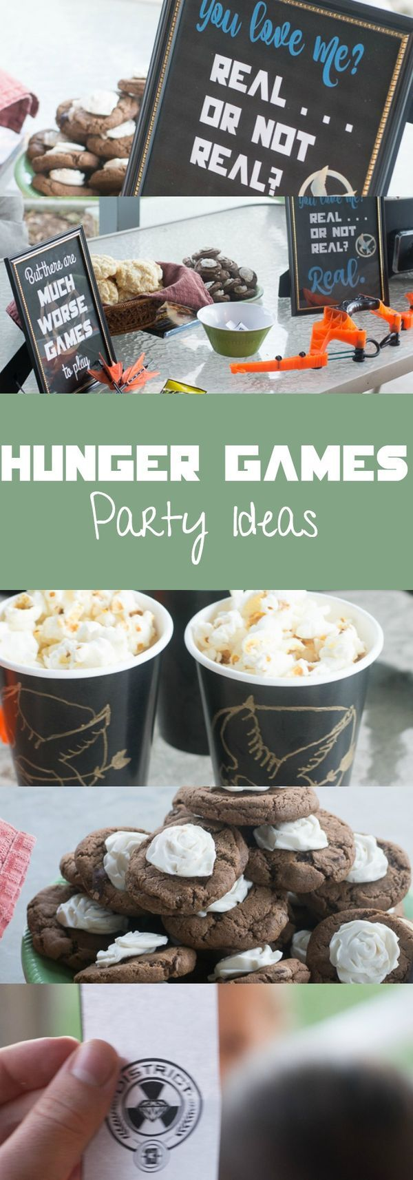 Lots of fun Hunger Games party ideas - Hunger Games themed food, decor, and games!