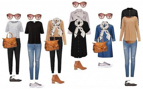 Capsule wardrobe for young mums