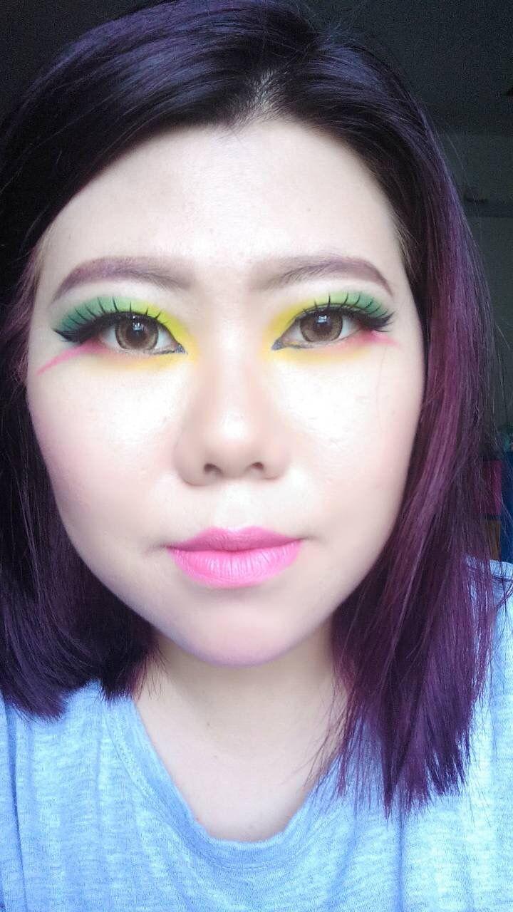 Rainbow/makeup/asian/monolid/colorful
