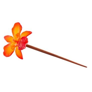Real orchid preserved in resin. $55 Cattleya Chopstick