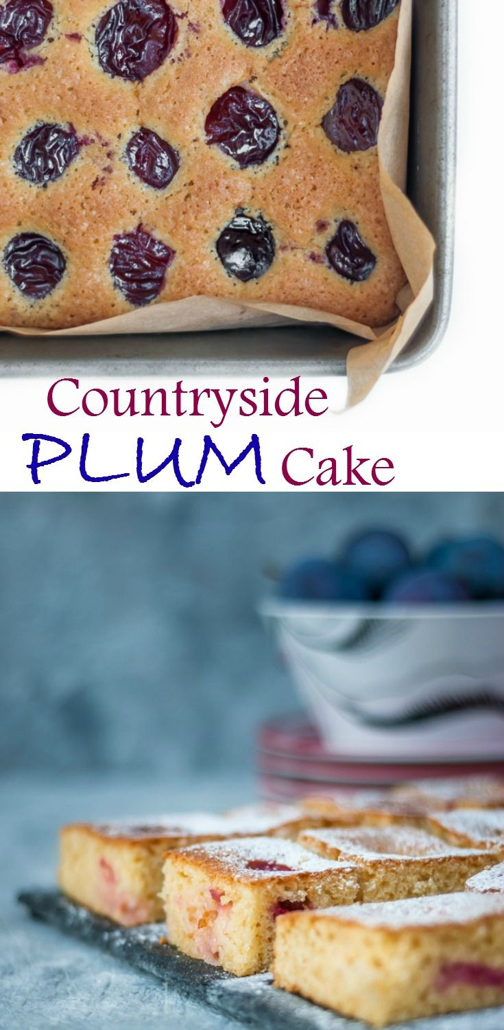 Light, moist and very refreshing this countryside plum cake is the perfect treat any time of the day. #plumcake #cake #fruitcake #baking