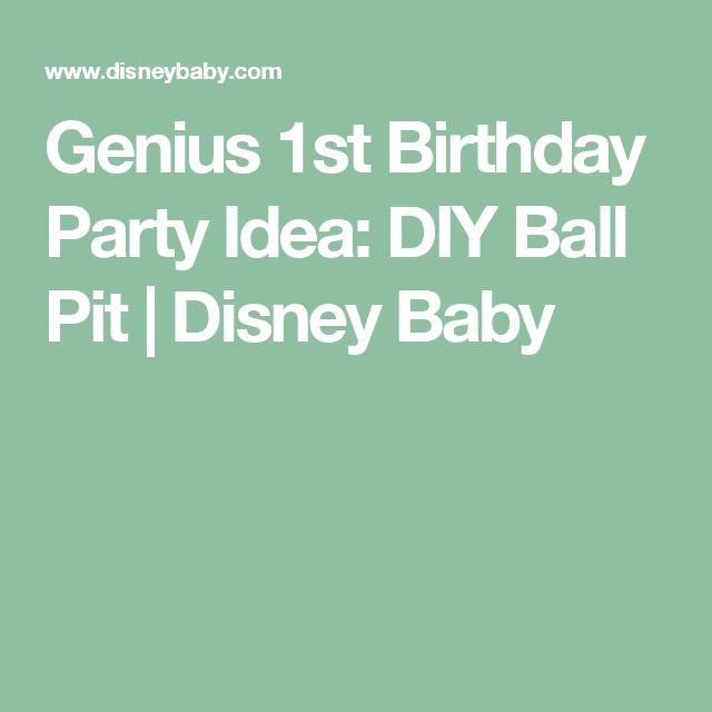 Genius 1st Birthday Party Idea: DIY Ball Pit | Disney Baby
