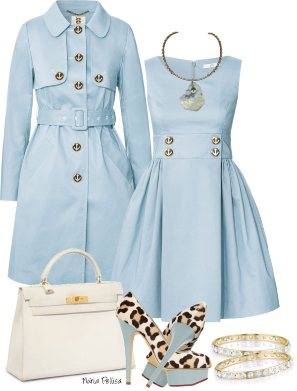 """""""Pale Blue and Whithe"""" by nuria-pellisa-salvado ❤ liked on Polyvore"""