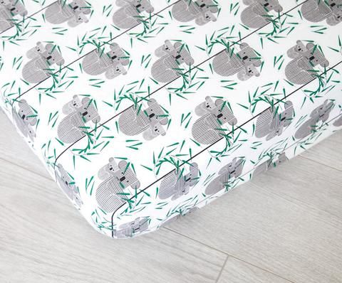 Organic Fitted Crib Sheet - Koalas