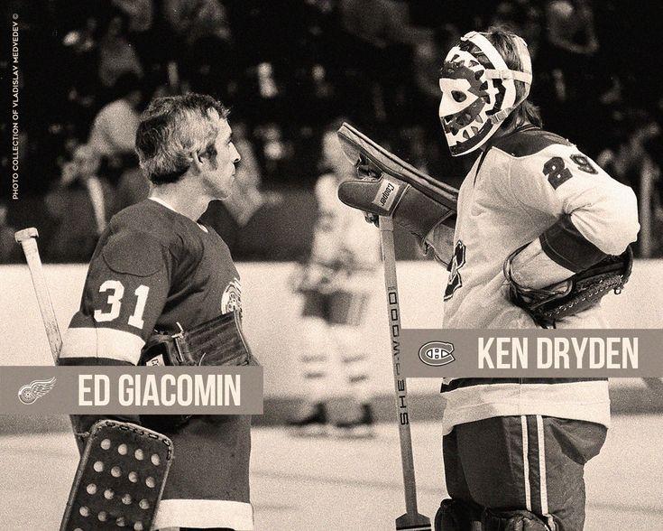 Eddie Giacomin and Ken Dryden.