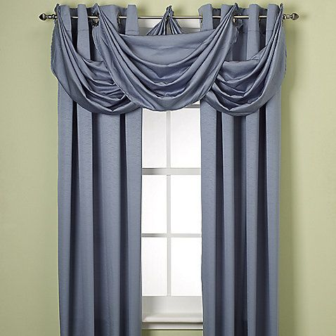 Odyssey Insulating Waterfall Valance Master Bedroom Curtains Windows Pinterest Master