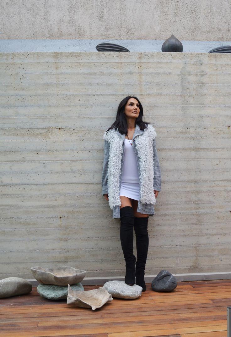 knit cartigan with fair by Nima #knitwear #Nimaliminalknitting