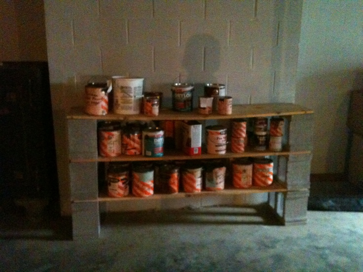 Simple Shelve Idea For Garage, Cinder Blocks And Wood Planks!