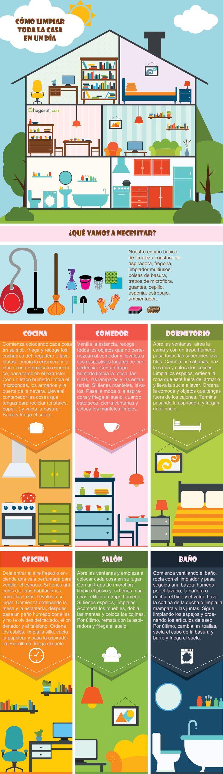 Las 25 mejores ideas sobre limpieza en pinterest ama de - Como limpiar y ordenar la casa ...